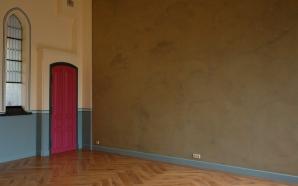 Woonhuis Tilburg, warmtewand met leemstuc
