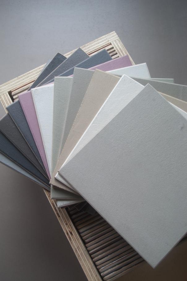 VERBAU betonstuc, beton-ciré kleurstalen