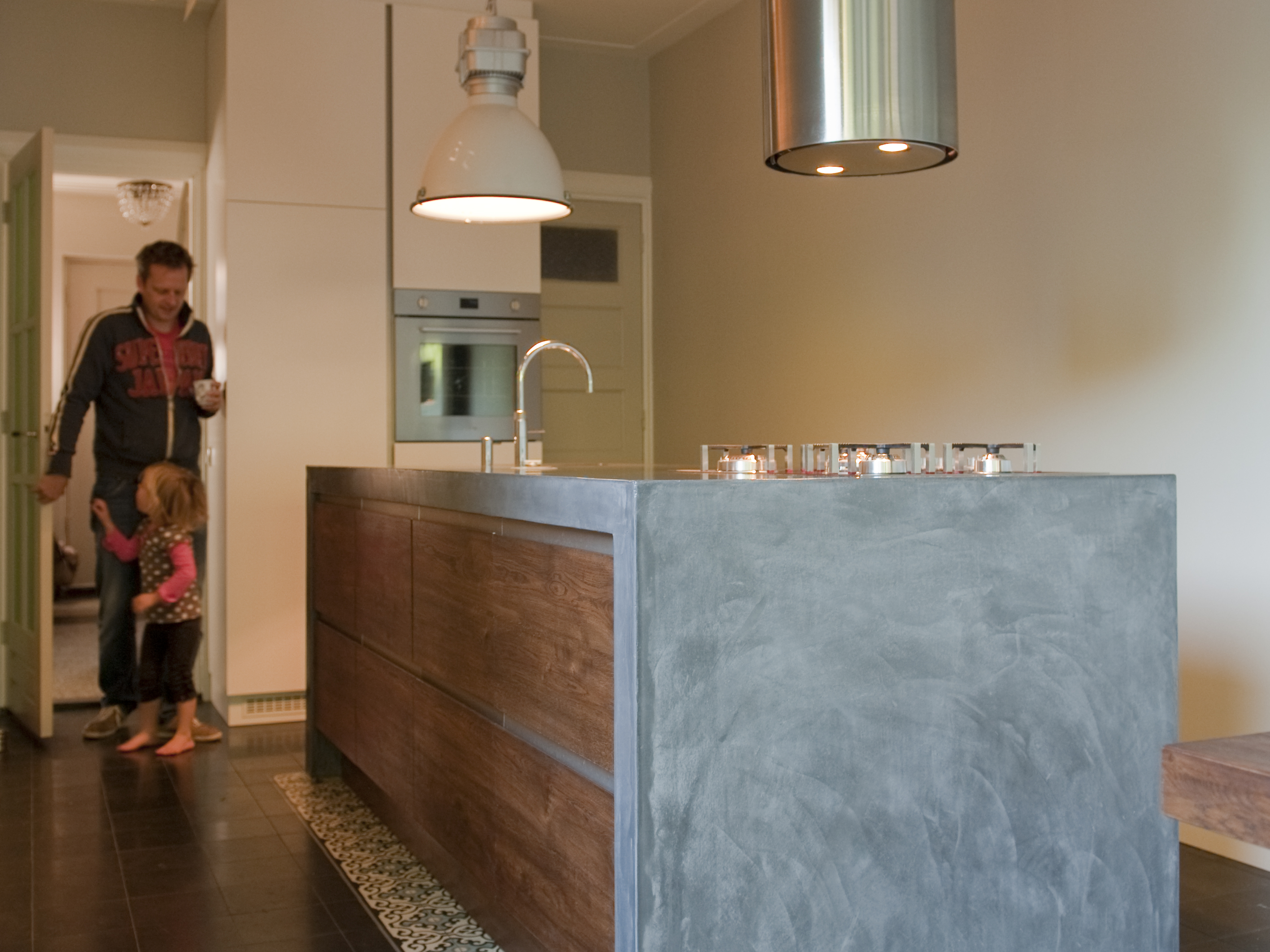 Polyester Badkamer Unit ~ Keuken, woonhuis Tilburg VERBAU betonstuc  VERBAU