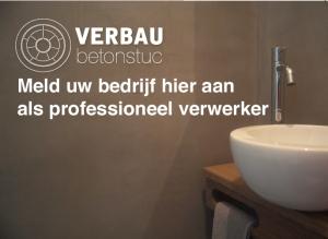 Aanmelden professionele verwerkers VERBAU-betonstuc