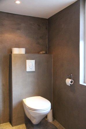 Badkamer in Harmelen. VERBAU-betonstuc #7: graniet.
