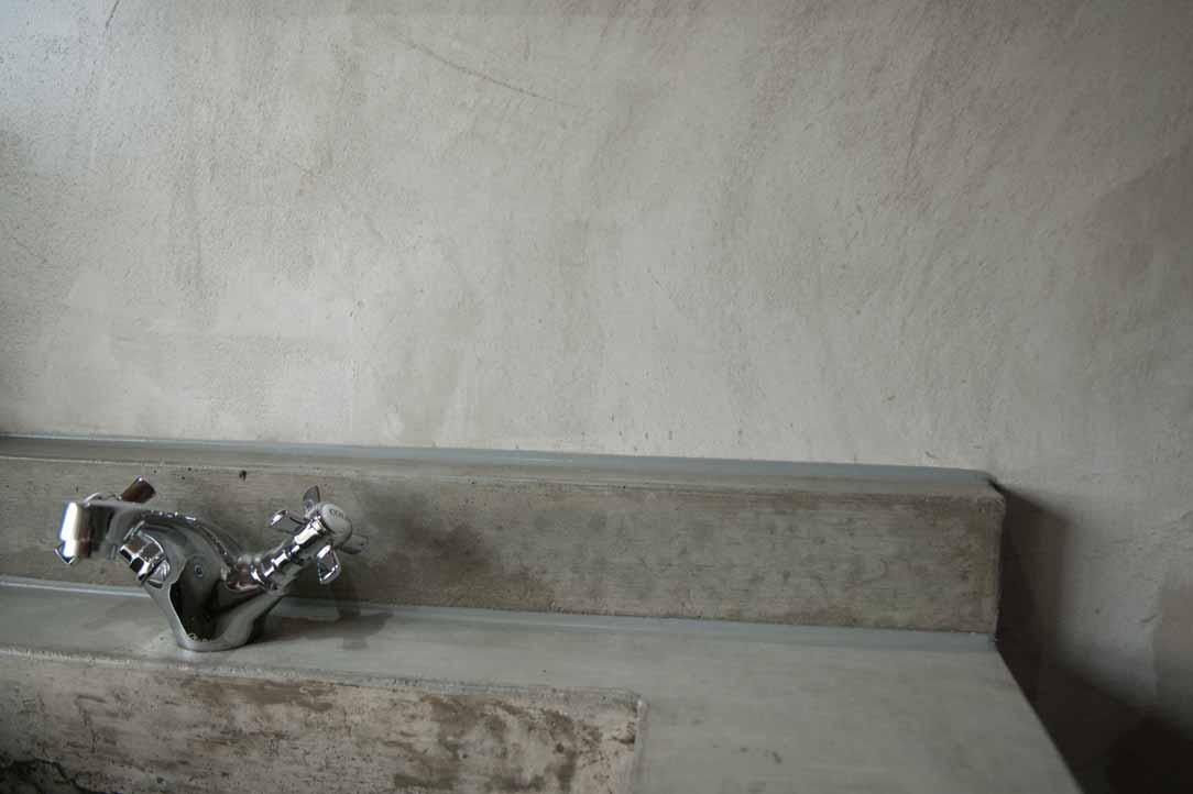 Badkamer gastenverblijf boerderij est verbau betonstuc for Betonstuc zelf aanbrengen